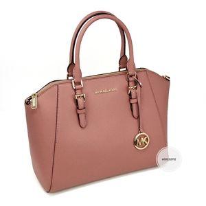 Michael Kors Ciara Large Satchel Pink
